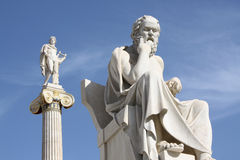 Socrates and Apollo stock photography