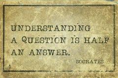 Socrates da pergunta imagem de stock