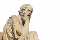 Socrates. Greek philosopher Socrates in front of the National Academy of Athens Stock Photo