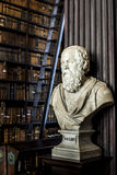 Socrates in a mysterious library! Stock Photo
