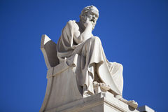 Socrates, the philosopher. At the Academy of Athens, Greece stock images