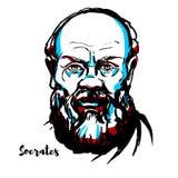Socrates Portrait royaltyfri illustrationer