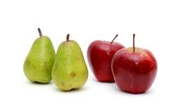 Soczyste bonkrety, jabłka Na bielu Obraz Stock