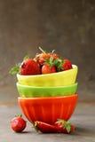 Soczyste organicznie jagody truskawkowe Zdjęcie Royalty Free