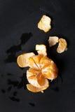 Soczysty świeży strugał tangerine Fotografia Royalty Free