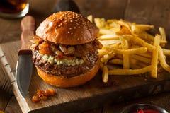 Soczysty Błękitnego sera hamburger Fotografia Royalty Free