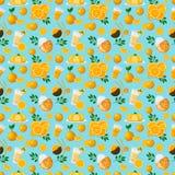 Soczysty owoc i jagod bezszwowy wzór royalty ilustracja