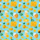 Soczysty owoc i jagod bezszwowy wzór ilustracji
