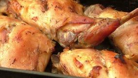 Soczysty piec królika mięso ja zdjęcie wideo