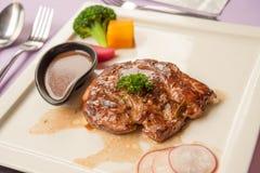Soczysty piec na grillu wołowina stek Obraz Royalty Free