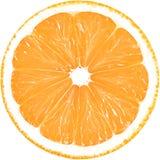 Soczysty plasterek odizolowywający na białym tle z ścinek ścieżką pomarańcze zdjęcia stock