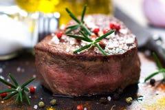 Soczysty polędwicowy stek Fotografia Stock