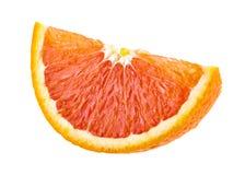 Soczysty pomarańczowy plasterek odizolowywający na bielu Zdjęcie Royalty Free