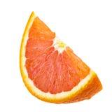 Soczysty pomarańczowy plasterek odizolowywający na bielu Fotografia Royalty Free