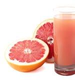 soczysty szklany grapefruitowy sok Obrazy Royalty Free