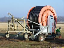 Sod farm irrigation equipment Royalty Free Stock Photography