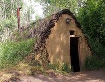 Sod House. At the Ukrainian Village Alberta royalty free stock photo
