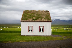 Sod Roof House Stock Images