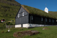Sod roofed church at Funnigar Royalty Free Stock Image