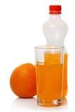 Soda anaranjada y vidrio imágenes de archivo libres de regalías