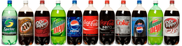 Soda-Anordnung Lizenzfreies Stockbild