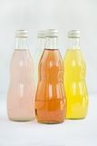 Soda assorted flavors and colors royalty free stock photos