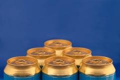 Soda (beer) cans pyramid Stock Photo