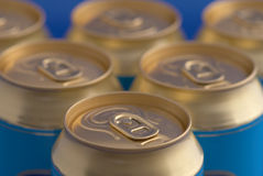 Soda (beer) cans pyramid Stock Photography