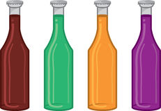 Soda Bottle Colors Royalty Free Stock Photo