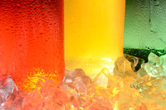 Soda Bottle and Ice Abstract Royalty Free Stock Photography