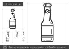 Soda bottle line icon. Stock Photo