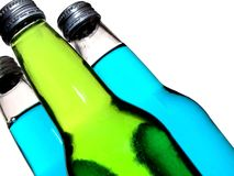 Soda Bottles on an Angle stock images
