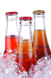 Soda Bottles in ice Bucket Stock Photography