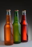 Soda Bottles on Light to Dark Background Stock Images