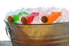 Soda Bottles in PArty Bucket Stock Photo