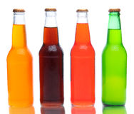 Soda Bottles with Reflection Stock Images