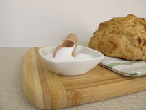 Soda bread and baking soda Royalty Free Stock Images
