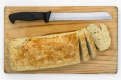 Soda Bread  Sliced 03-Top Royalty Free Stock Image