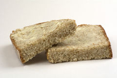 Soda bread slices with butter Royalty Free Stock Photo