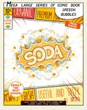 soda Bulle réaliste de la parole d'art de bruit illustration libre de droits