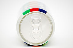 A soda can. From the top of the can Stock Images