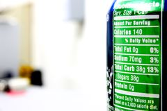 Free Soda Can Calories Chart Stock Photo - 30550