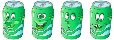 Soda Can. Drink Beverage Emoji Emoticon collection stock photography