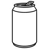 Soda Can Illustration. A vector illustration of a Soda Can Royalty Free Stock Image