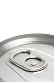 Soda can macro. Top view, shallow depth of field over white Stock Photography