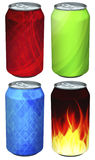 Soda can models Stock Images