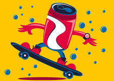 Soda Can Play Skate Board Stock Photos