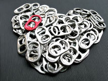 Soda can pull tabs Stock Images