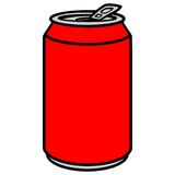 Soda Can. A vector illustration of a Soda Can stock illustration
