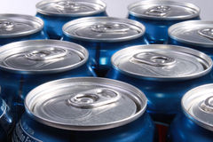 Soda cans Stock Images